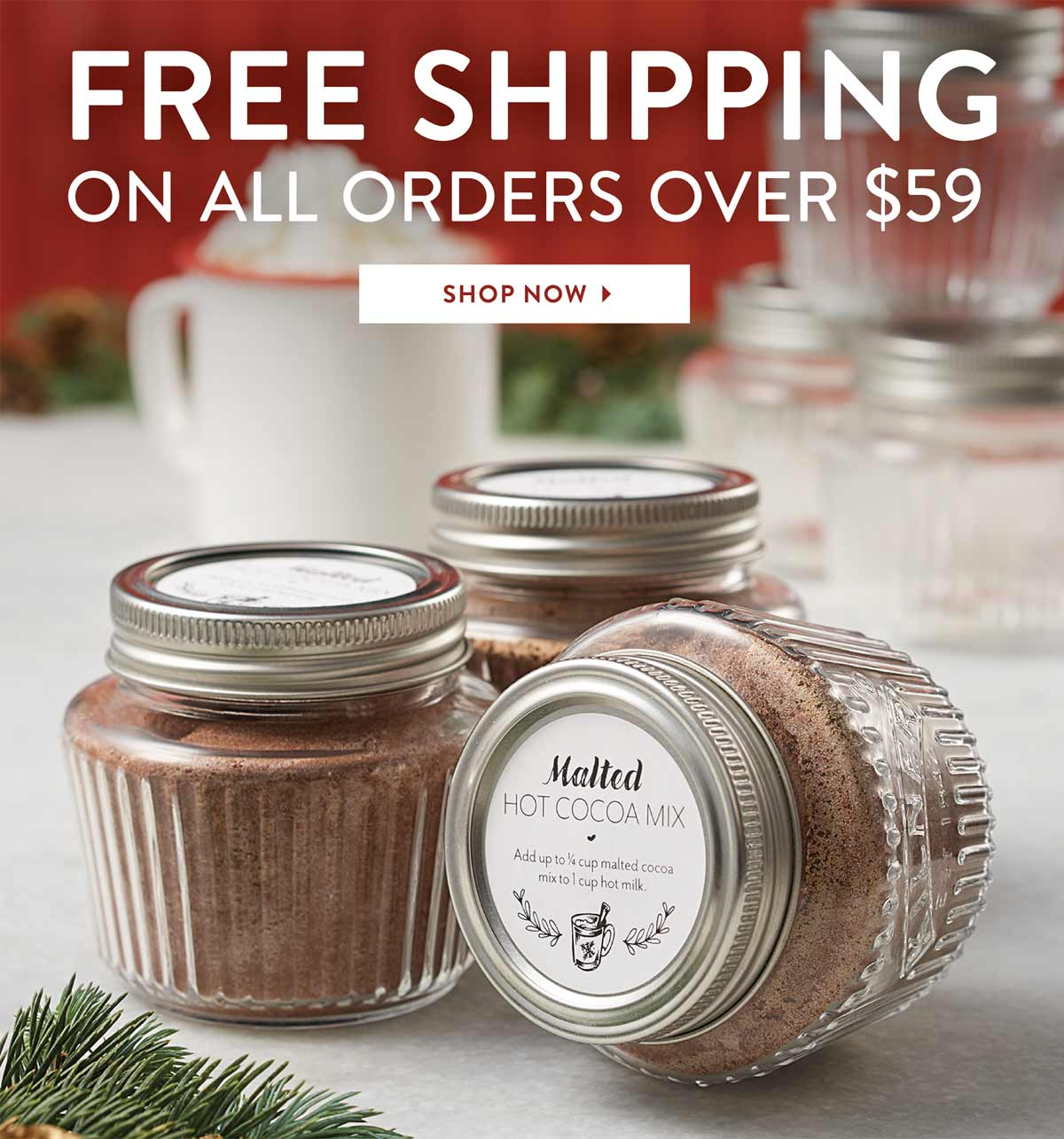 Free Shipping on orders over $59